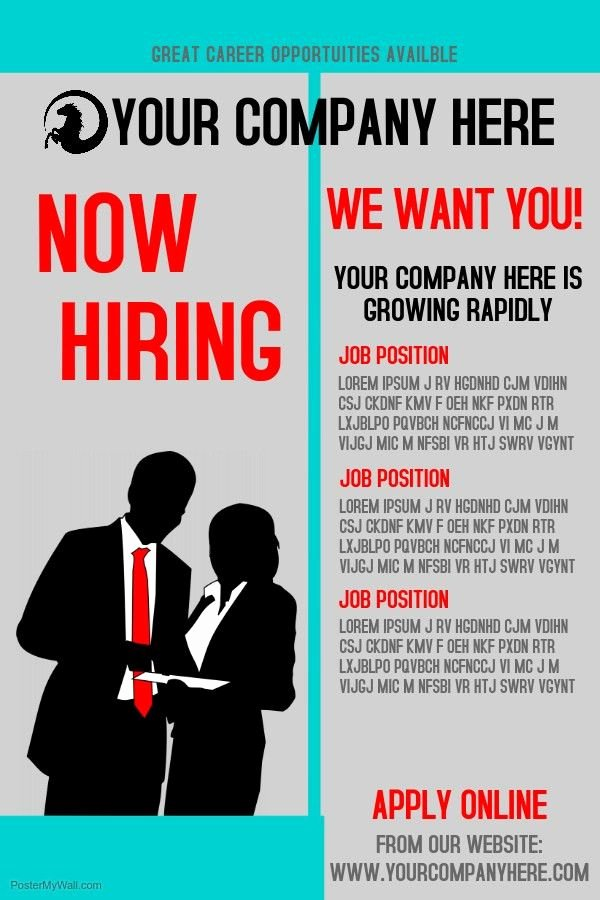 Job Posting Examples New Hiring Ad Template Poster Templates Postermywall Staffi