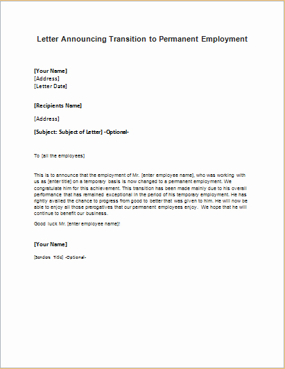 Job Transition Email Template Best Of formal Ficial and Professional Letter Templates Part 16