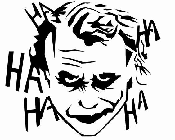 Joker Pumpkin Carving Patterns Awesome Best 25 Joker Stencil Ideas On Pinterest