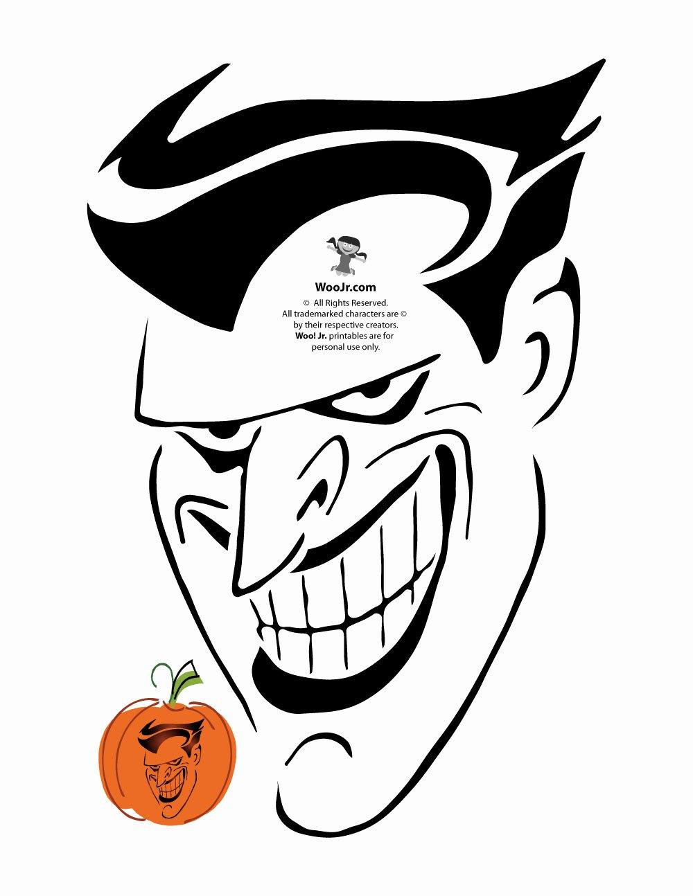 Joker Pumpkin Carving Patterns Awesome Joker Pumpkin