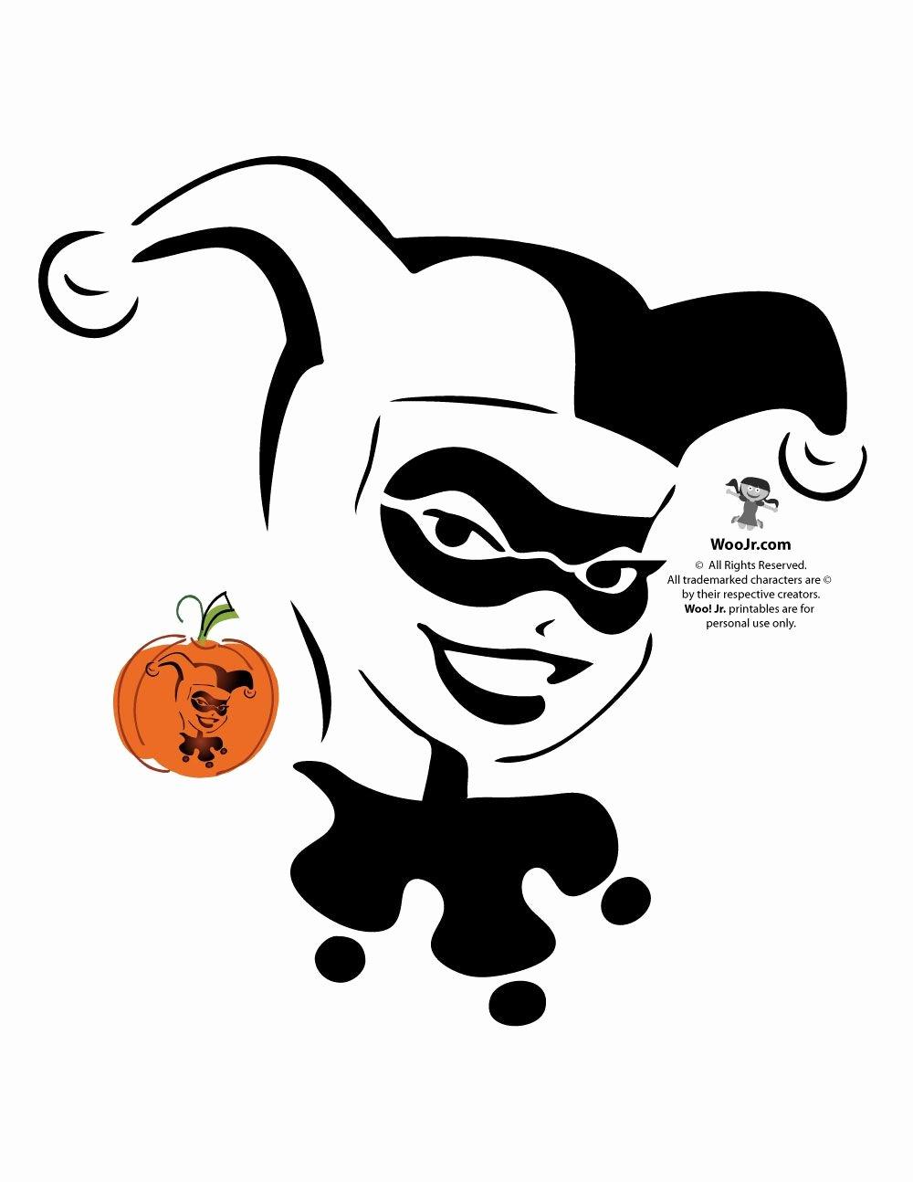 Joker Pumpkin Carving Patterns New Superman Batman Wonder Woman & Dc Ics Villains
