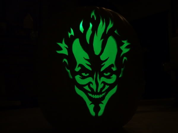 Joker Pumpkin Carving Stencils Awesome Finished My First for 2009 Page 2 Zombie Pumpkins