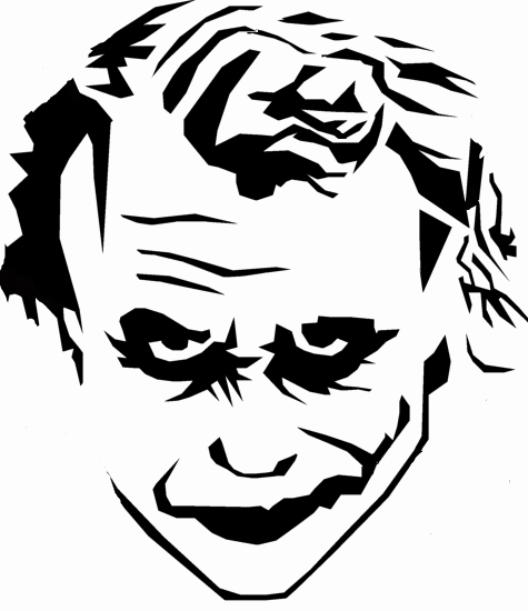 Joker Pumpkin Stencils Beautiful Cartoon Disney and Warner Brothers Stencils