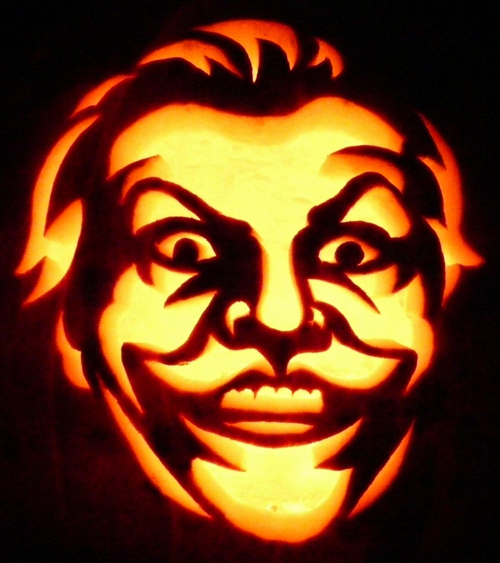 Joker Pumpkin Stencils Elegant Carved Pumpkin Jack Nicholson Joker