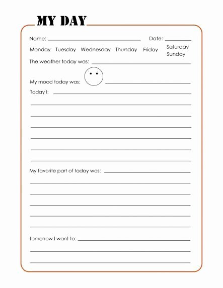 Journal Writing Template Lovely the Journal Pages