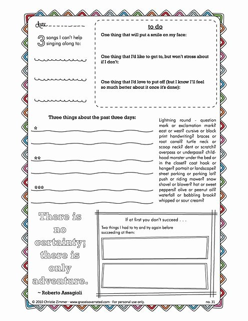 Journal Writing Template New Creative Journal Pages Prompts Really Fun