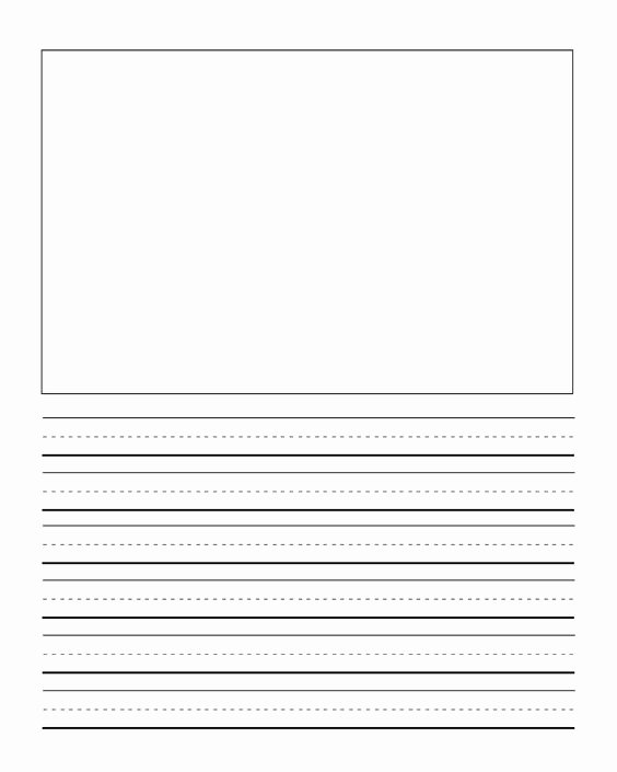 Journal Writing Template Unique First Grade Writng Paper Template with Picture