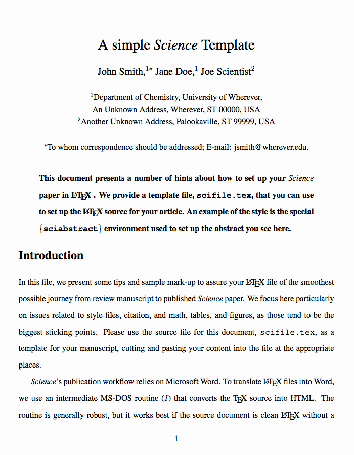 Journal Writing Template Unique Latex Templates Academic Journals