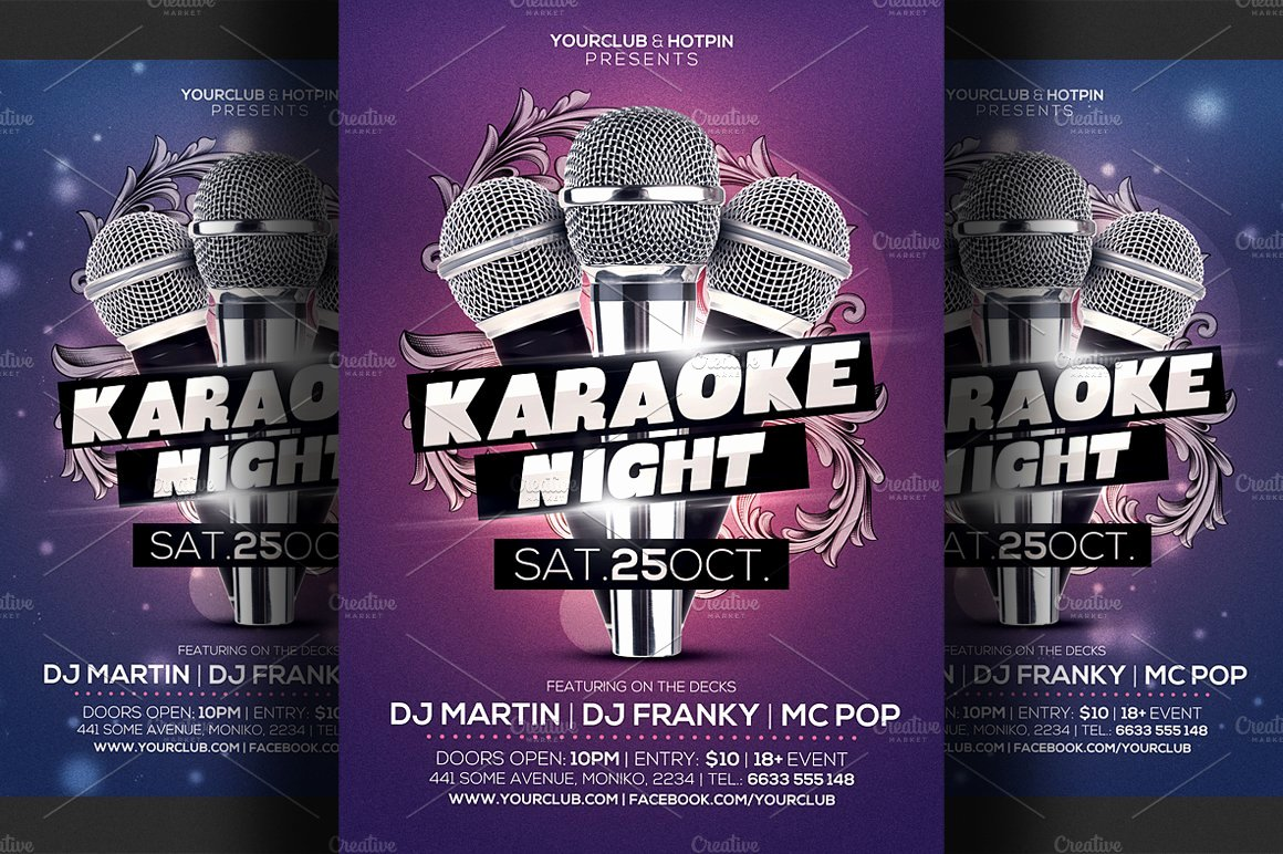 Karaoke Night Flyer Beautiful Karaoke Night Flyer Template 3 Flyer Templates