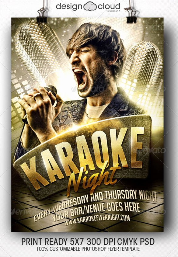Karaoke Night Flyer Best Of 19 Karaoke Night Flyer Templates
