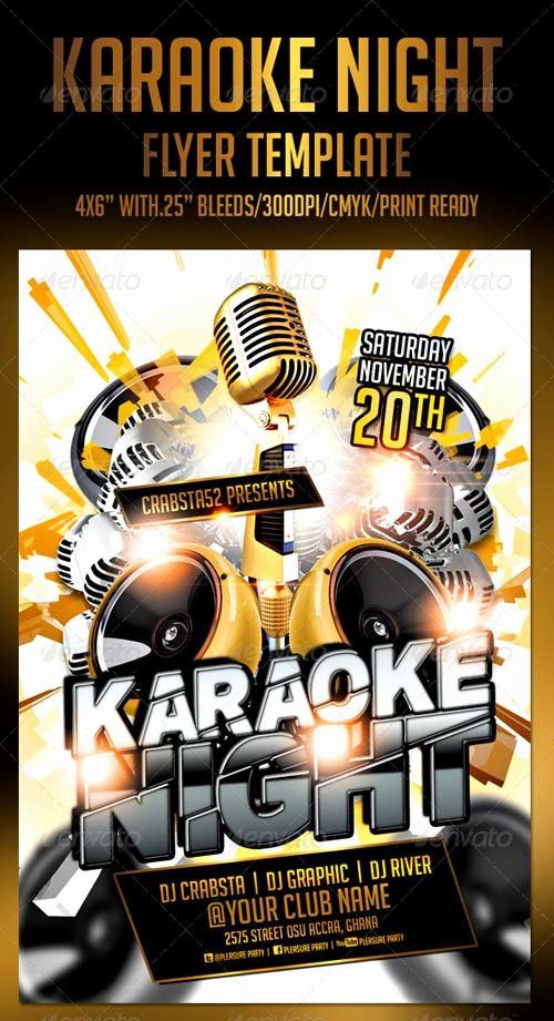 Karaoke Night Flyer Best Of Graphicriver Karaoke Night Flyer Template