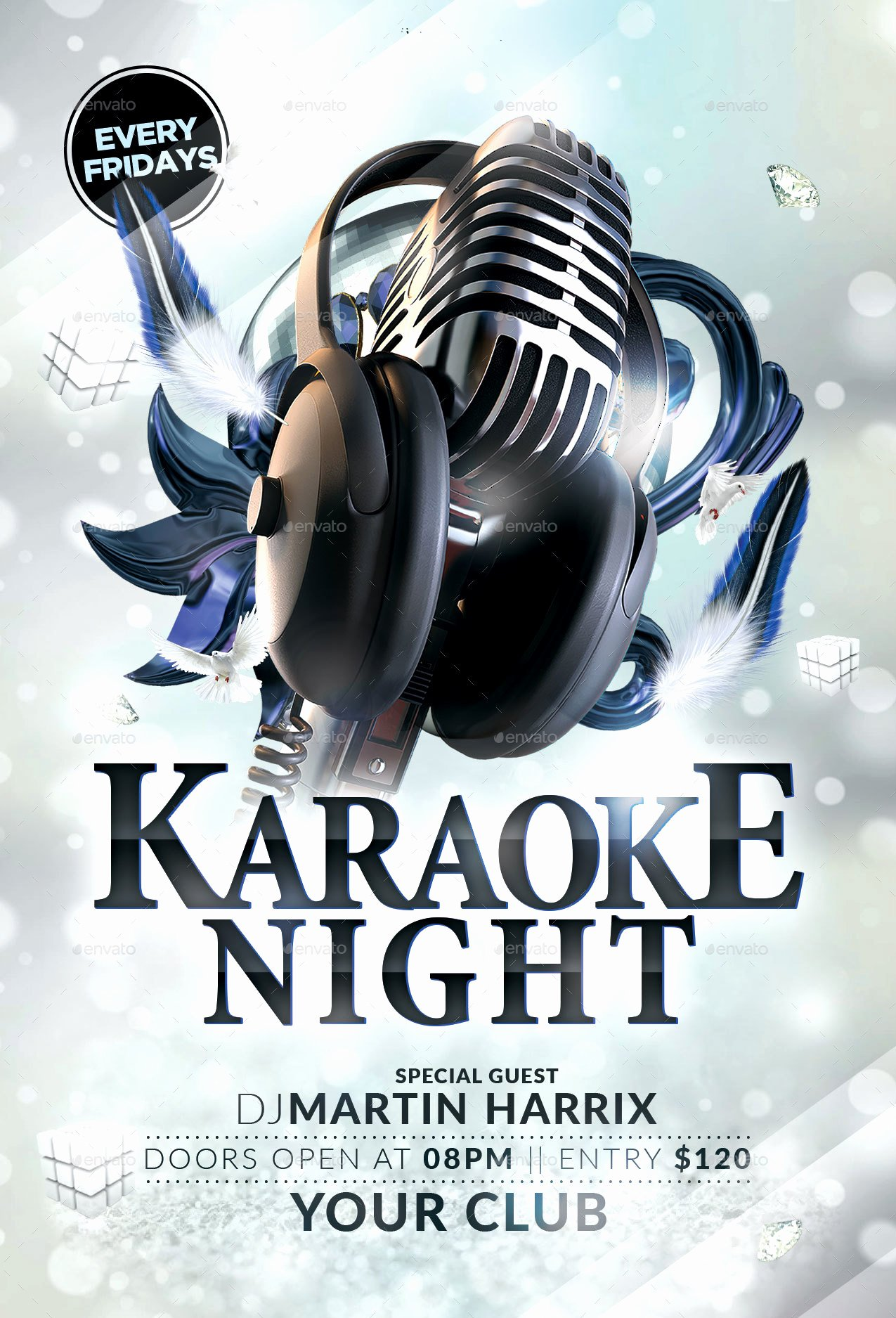 Karaoke Night Flyer Best Of Karaoke Night Flyer by Hedygraphics