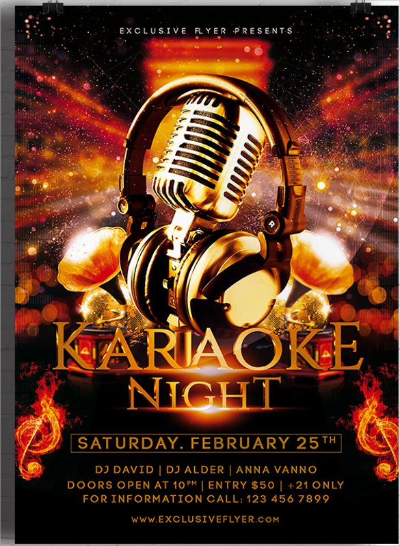 Karaoke Night Flyer Elegant 19 Karaoke Night Flyer Templates