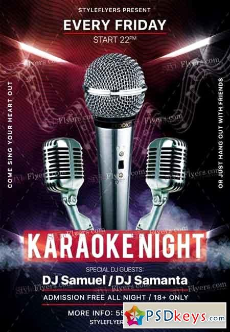 Karaoke Night Flyer Elegant Karaoke Night Psd Flyer Template 5 Free Download