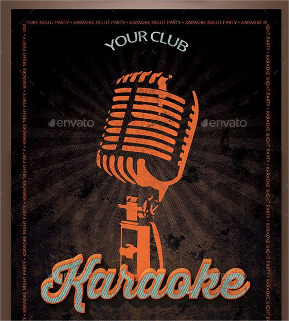Karaoke Night Flyer Fresh 19 Karaoke Night Flyer Templates