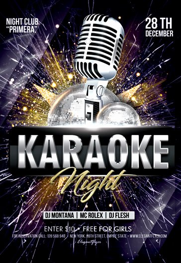 Karaoke Night Flyer Fresh Karaoke Flyers Templates