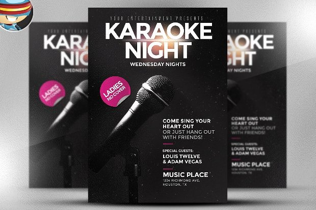 Karaoke Night Flyer Inspirational 23 Awesome Karaoke Flyer Designs Psd Word Ai Eps