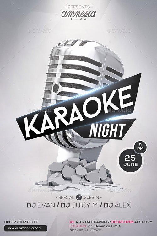 Karaoke Night Flyer Inspirational Karaoke Night Flyer Template for Your Next Karaoke event