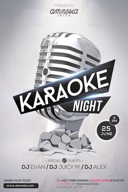 Karaoke Night Flyer Inspirational Karaoke Night Flyer Template for Your Next Karaoke event