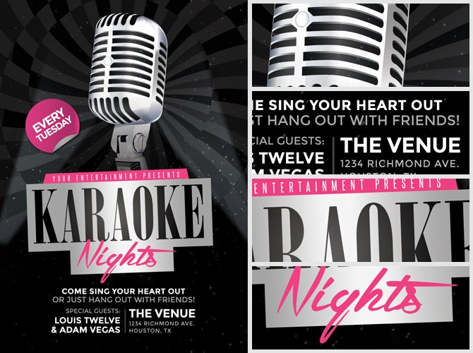 Karaoke Night Flyer Lovely Karaoke Nights Flyer Template 2 Flyerheroes