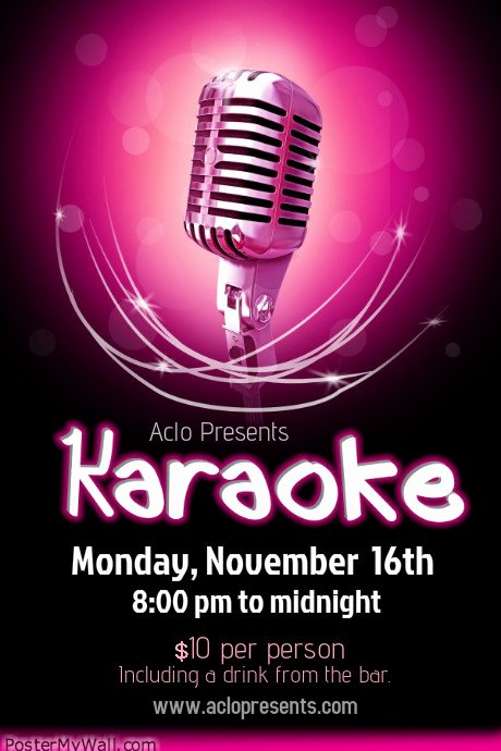 Karaoke Night Flyer Lovely Karaoke Poster Templates