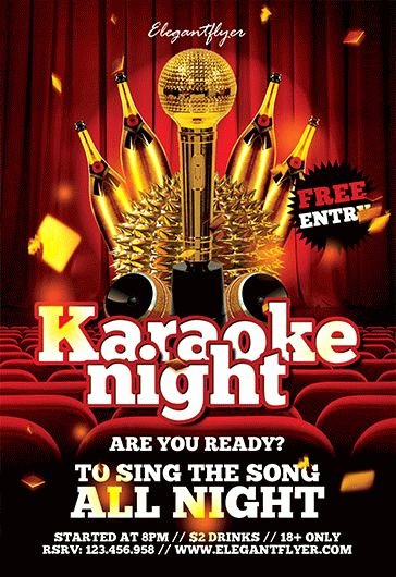 Karaoke Night Flyer Luxury All Night Karaoke Template – by Elegantflyer