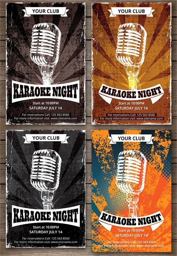 Karaoke Night Flyer Luxury Party Flyer Designs