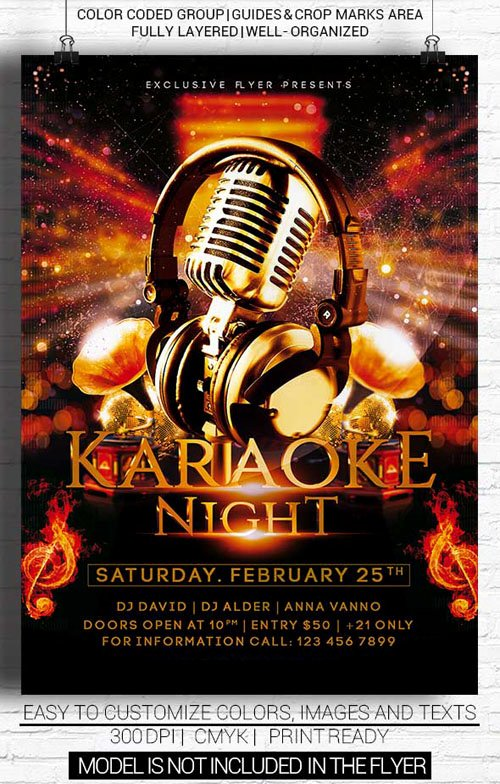 Karaoke Night Flyer New Flyer Template Psd Karaoke Night Downturk Download