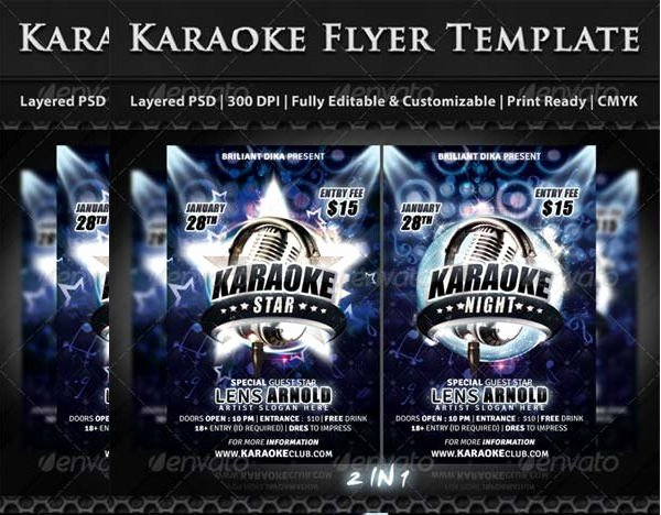 Karaoke Night Flyer Unique 12 Karaoke Party Flyers Psd Vector Eps Ai Word