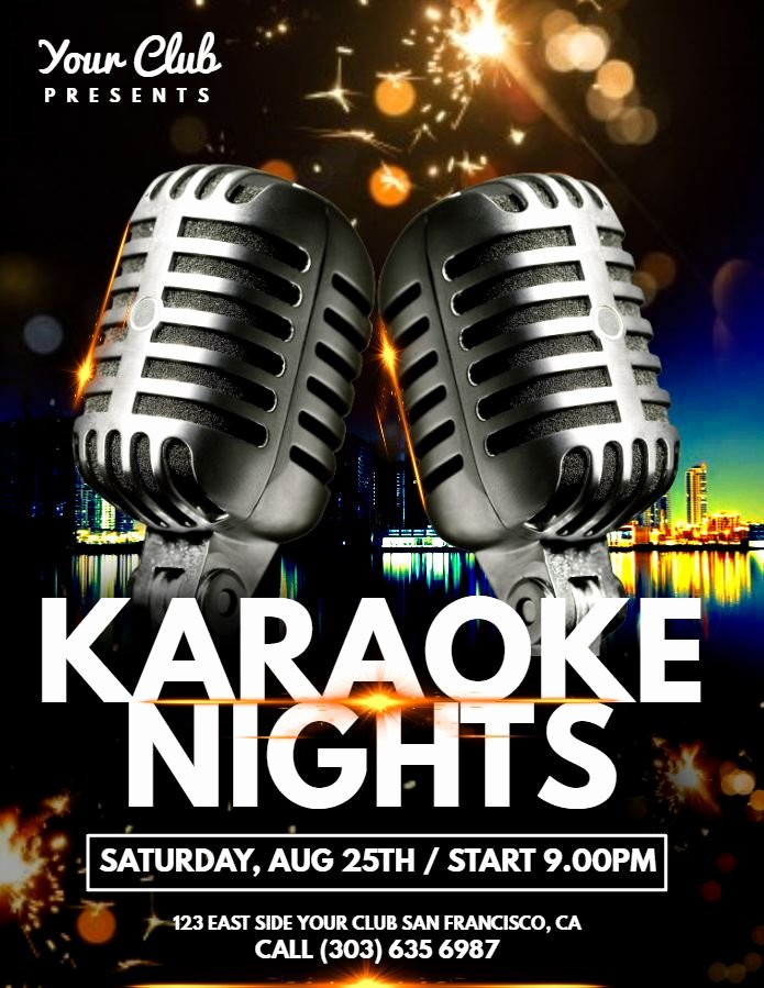 Karaoke Night Flyer Unique 30 Best Karaoke Poster Templates Images On Pinterest