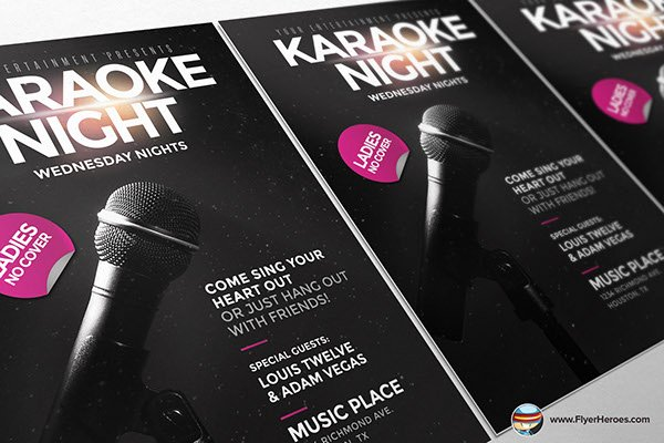 Karaoke Night Flyer Unique Karaoke Night Flyer Template On Behance