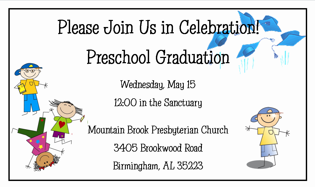 Kindergarten Graduation Program Template Free Awesome Preschool Graduation