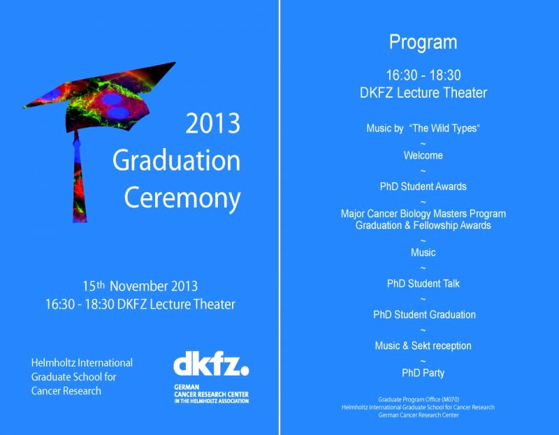 Kindergarten Graduation Program Template Free Elegant Deutsches Krebsforschungszentrum