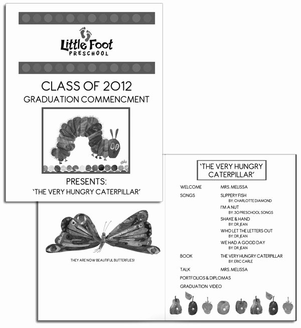 Kindergarten Graduation Program Template Free Elegant Preschool Graduation Program Sample Google Search
