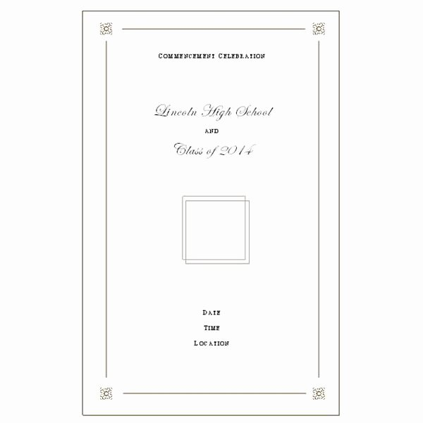 Kindergarten Graduation Program Template Free Elegant Want to Make Your Own Graduation Program Templates Make