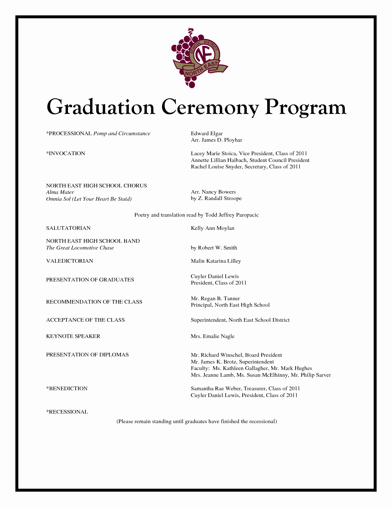 Kindergarten Graduation Program Template Free Inspirational Graduation Program Template Beepmunk