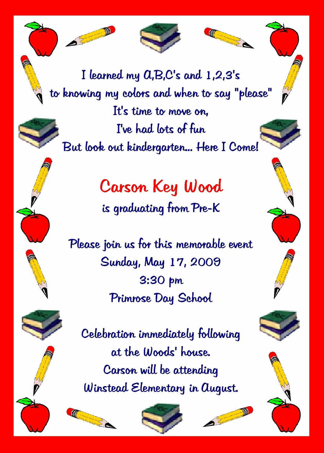 Kindergarten Graduation Program Template Free Inspirational Pre K Graduation Quotes Quotesgram