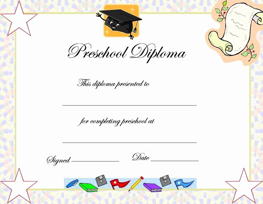 Kindergarten Graduation Program Template Free Luxury Preschool Graduation Certificate Template