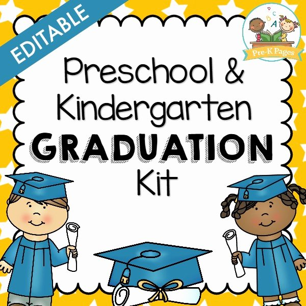 Kindergarten Graduation Program Template Free Luxury Preschool Graduation Kit Pre K Pages