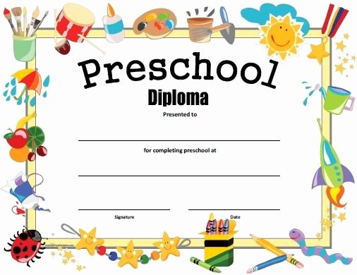 Kindergarten Graduation Program Template Free New Free Printable Preschool Diploma