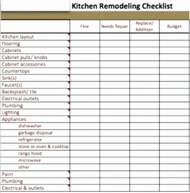 Kitchen Remodel Checklist Excel Inspirational Bathroom Remodel Checklist Home Design and Ideas