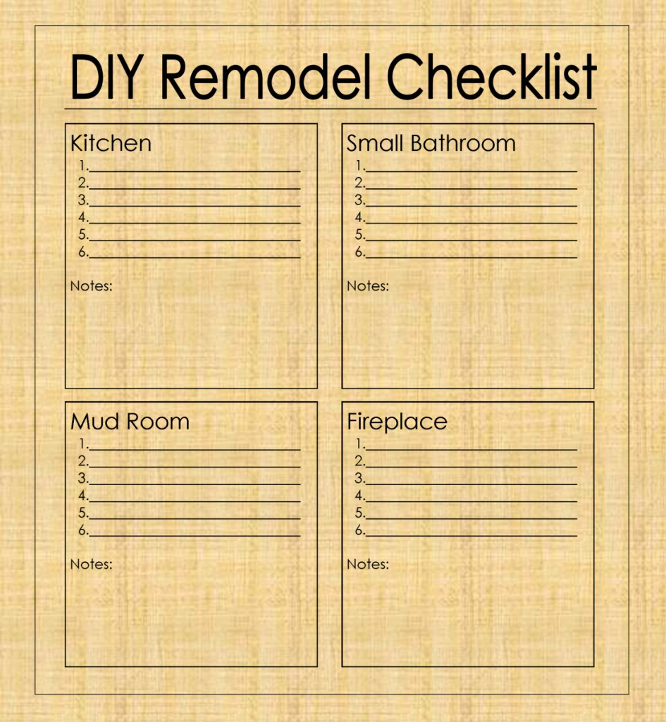 Kitchen Renovation Checklist Template Luxury Diy Remodel Checklist