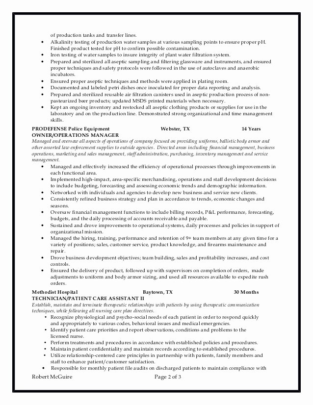 Laboratory Technician Resume Sample Awesome Chemical Lab Technician Resume 6 10 2016