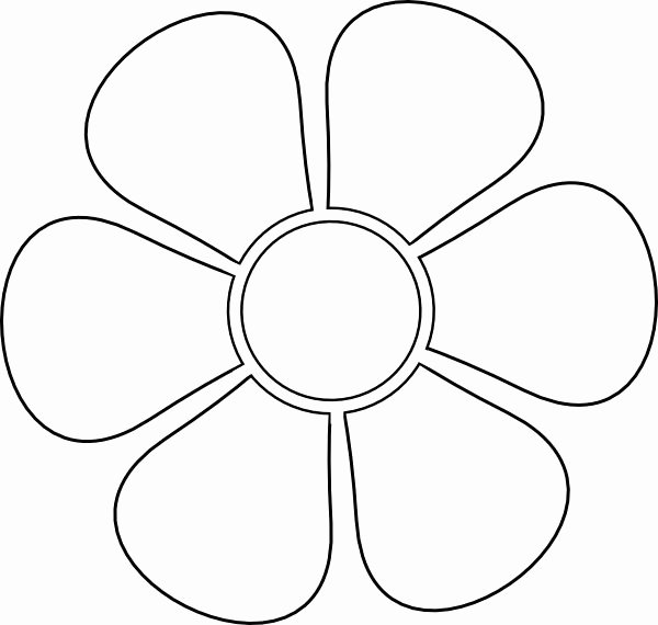 Large Flower Petal Template Fresh Stencil Clip Art at Clker Vector Clip Art Online