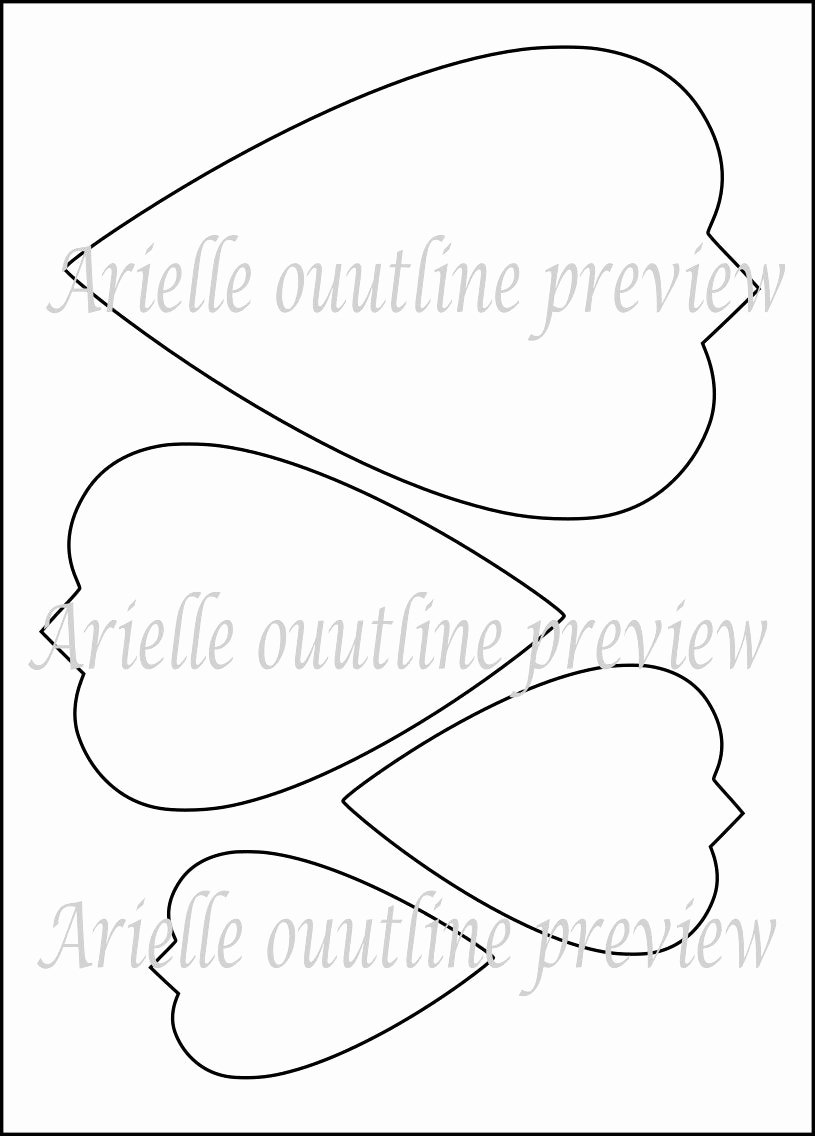 Large Flower Petal Template Inspirational Diy Giant Paper Flower Printable Templates Flower