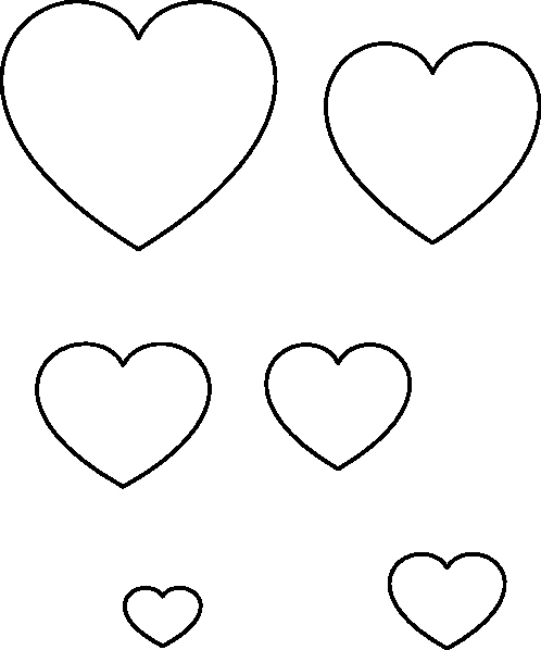 Large Heart Stencil Printable Awesome Heart Stencil Clip Art at Clker Vector Clip Art