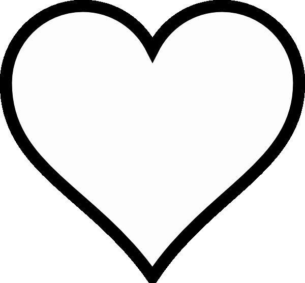 Large Heart Stencil Printable Awesome Plain Heart Clip Art at Clker Vector Clip Art Online
