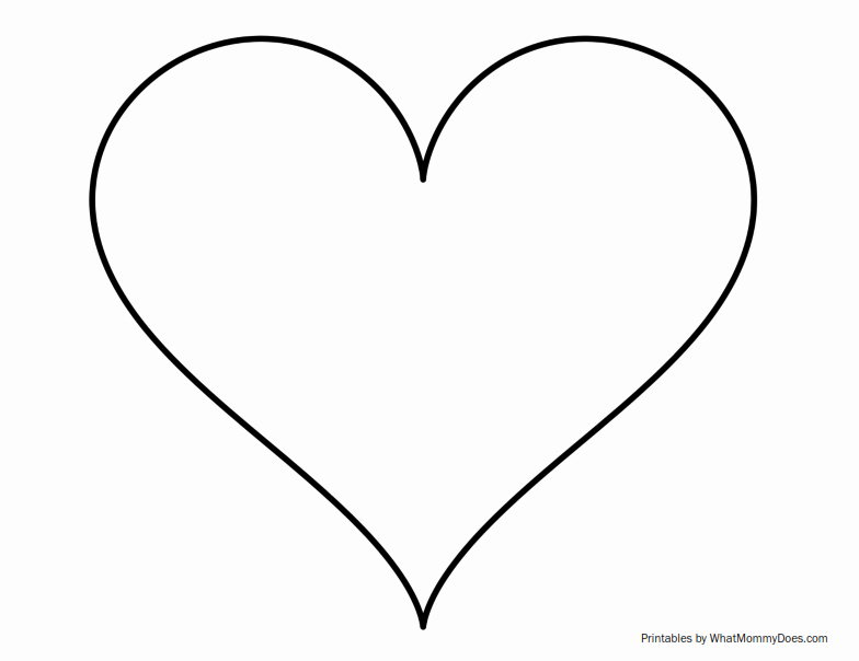 Large Heart Stencil Printable Awesome Super Sized Heart Outline Extra Printable Template
