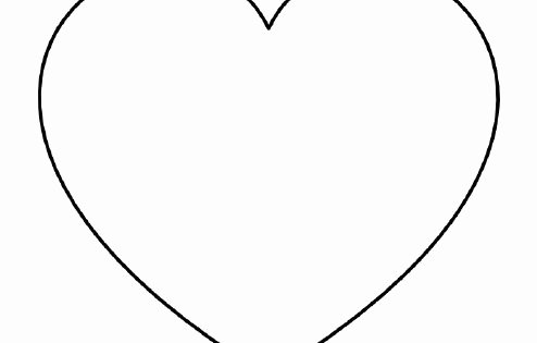 Large Heart Stencil Printable Beautiful Free Printable Heart Templates – Medium & Small