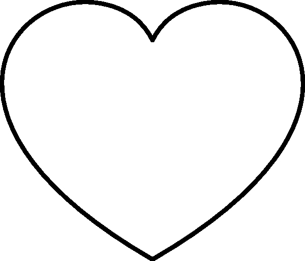Large Heart Stencil Printable Best Of Full Page Heart Template Clipart Best